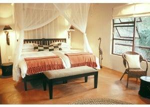 Privat dobbeltværelse i afrikansk national park