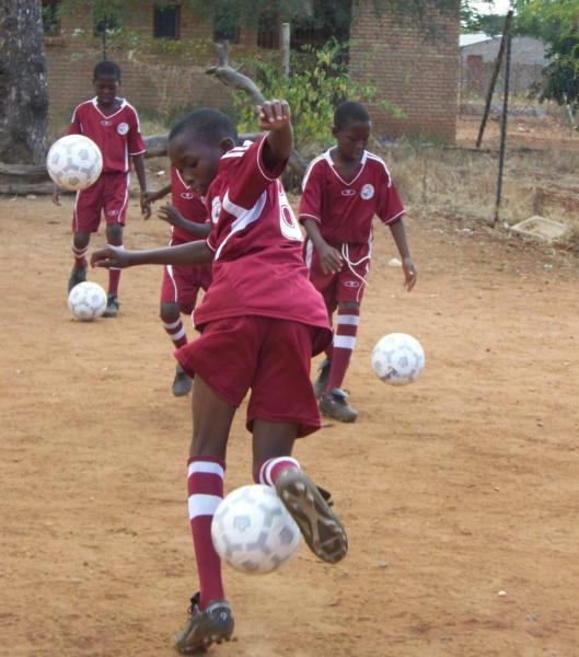 Diphuti gets new soccer gear
