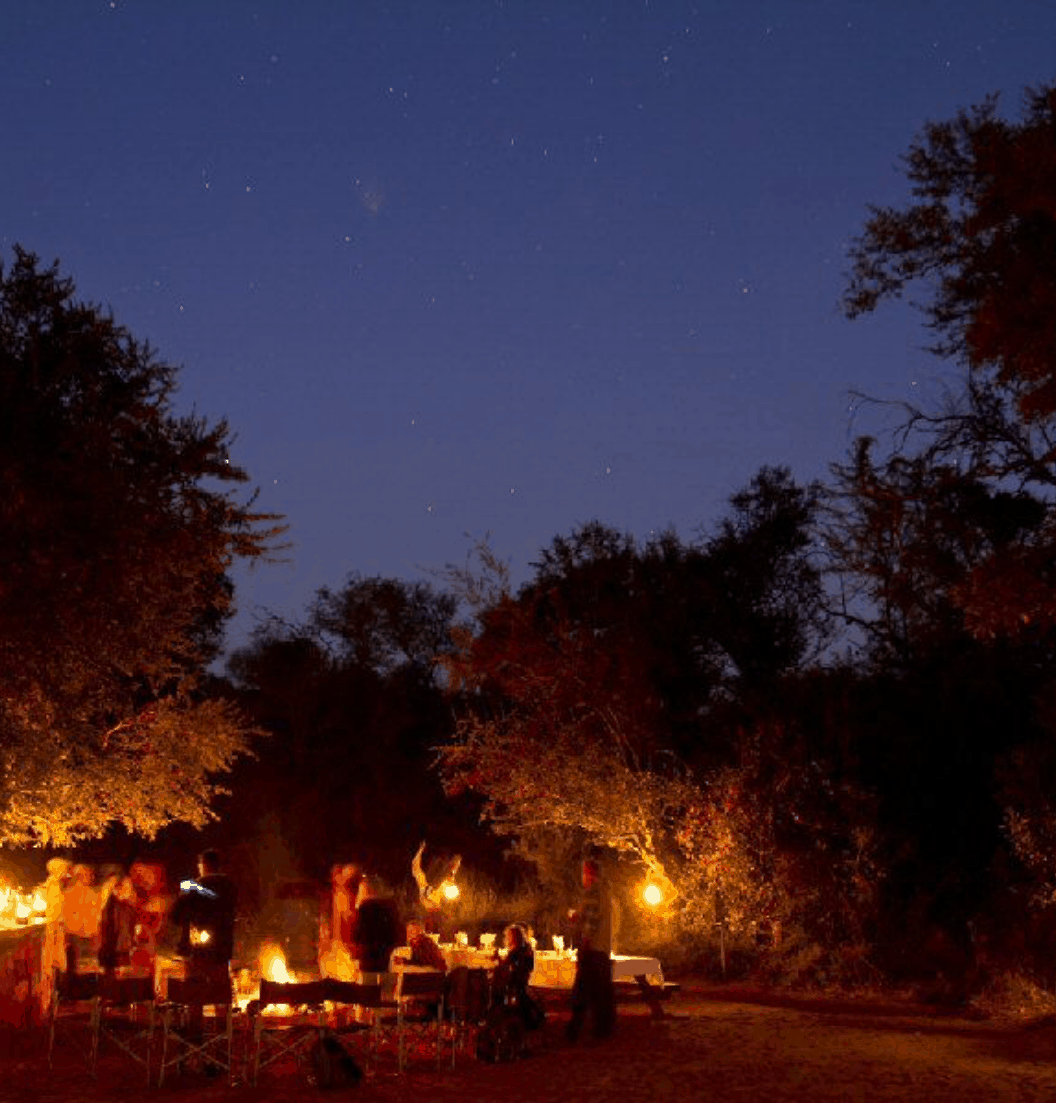 Bush Camp by night